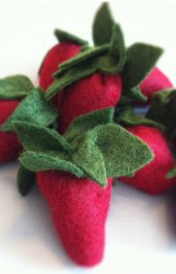 Sewn Felt Strawberries