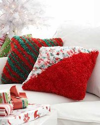 Holiday Boa Pillow