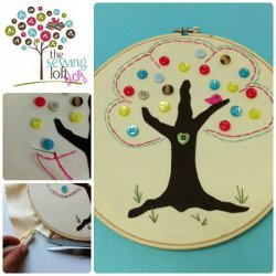 Simple Button Tree Art