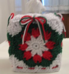 Christmas Shells and Bows Boutique Tissue Box Cover