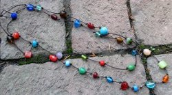 Colorful Beaded Knot Necklace