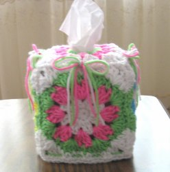 Colorful Shells and Bows Boutique Tissue Box Cover