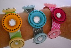 Craft Stick Button Bracelet