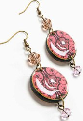 Dangling Decoupage Earrings