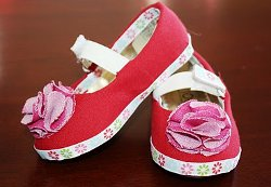 Fabric Covered Shoe Tutorial