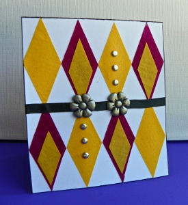 Fabric Scrap Greeting Card