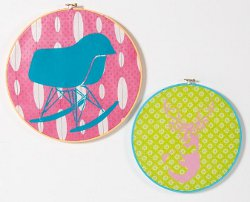 Stencil Embroidery Hoop Art