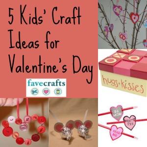 5 kids craft ideas for valentines day - Craft Ideas For Valentines Day