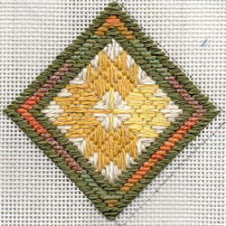 Needlepoint Leaf Ornament