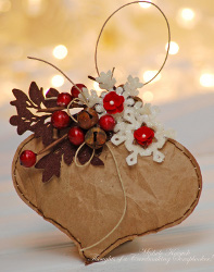 Simple Brown Bag Christmas Ornament