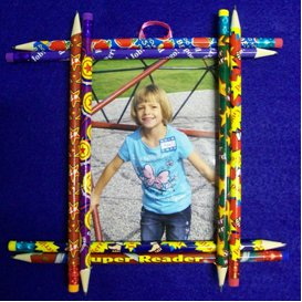 Easy Pencil Picture Frame