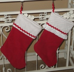 Ruffled Holiday Stocking