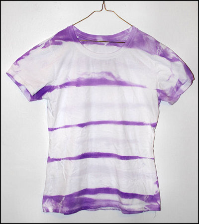 striped tie dye tee shirt