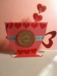 Brown Bag Tea Cup Valentine