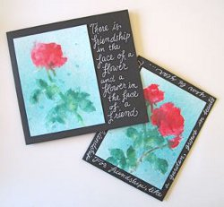 Glimmering Rose Card