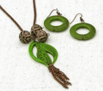 It's Easy Being Green Necklace and Earrings