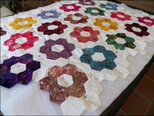 Grandmother's Flower Garden Quilted Pillowcases Part 2 ... : pillowcase quilt pattern - Adamdwight.com