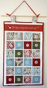 Advent Calendar Quilted Wall Hanging | FaveQuilts.com : advent calendar quilt - Adamdwight.com