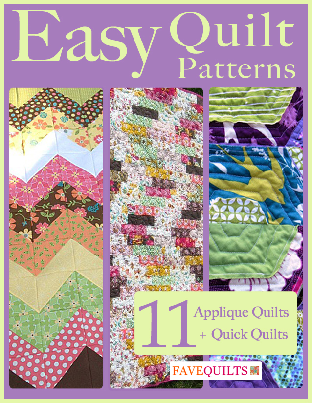 Easy Quilt Patterns: 11 Applique Quilt Patterns + Quick Quilts ... : easy applique quilts - Adamdwight.com
