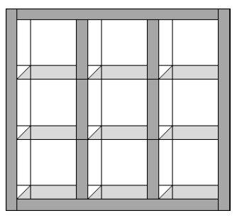 Changing Seasons Attic Window Quilt Pattern | FaveQuilts.com : window pane quilt pattern free - Adamdwight.com