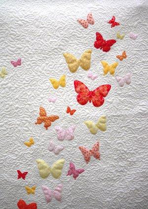 Butterflies a Flutter Baby Quilt Pattern | FaveQuilts.com : fave quilts - Adamdwight.com