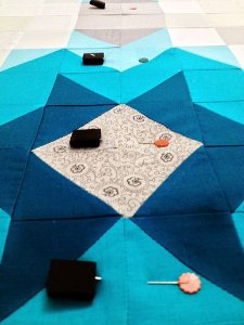 Pin Basting Your Quilt Layers