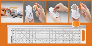 Fiskars Rotary Cutter and Ruler Combo and No-Touch Blade Change Tool
