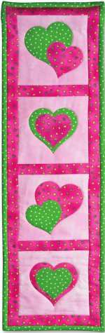 Applique Hearts Quilted Wall Display Favequilts Com