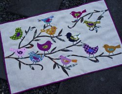 Birds and Branches Applique Wall Quilt | FaveQuilts.com : bird quilt pattern - Adamdwight.com