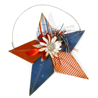 patriotic star wall hanging