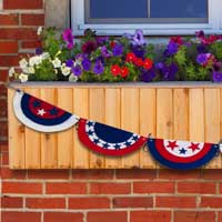 Pleated American Flag Garland