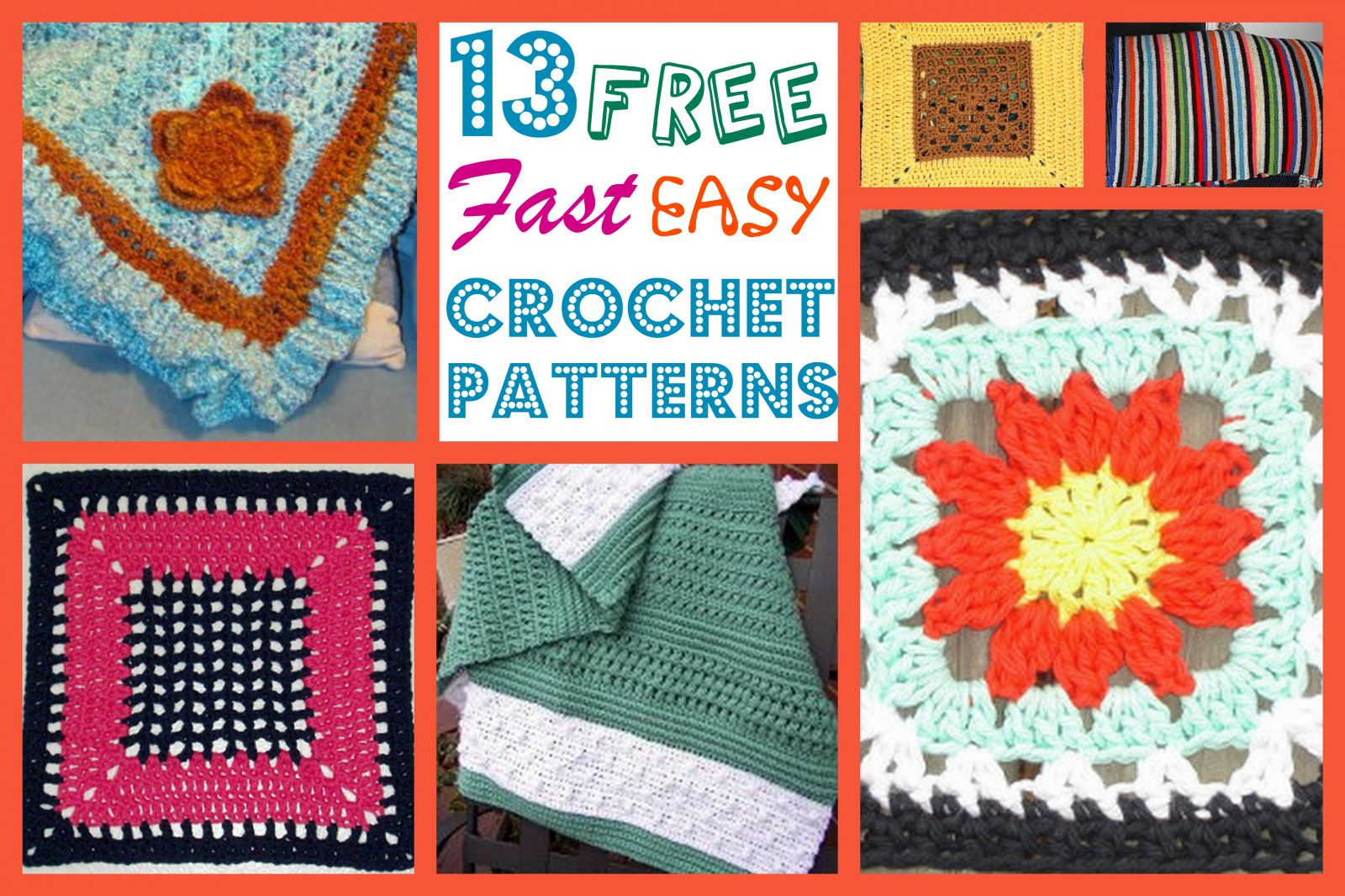 13 free fast easy crochet patterns 13 free fast easy crochet patterns easy crochet afghan patterns bankloansurffo Gallery