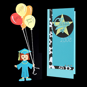 Graduation Balloons Card