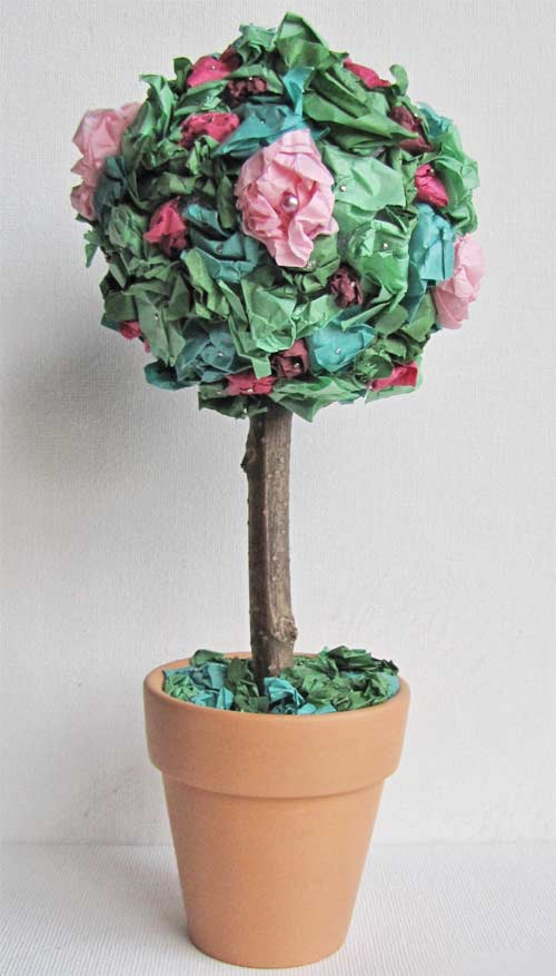 Tissue Paper Topiary Tree