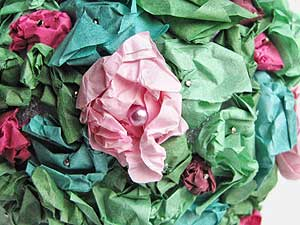 Tissue Paper Topiary Close Up