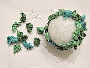 Tissue Paper Topiary Ball