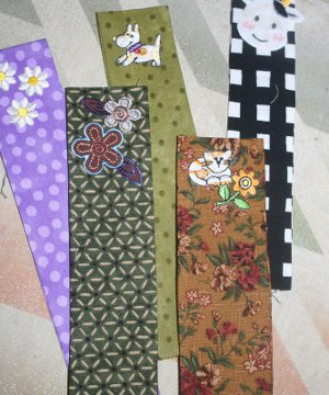 No Sew Fabric Bookmarks
