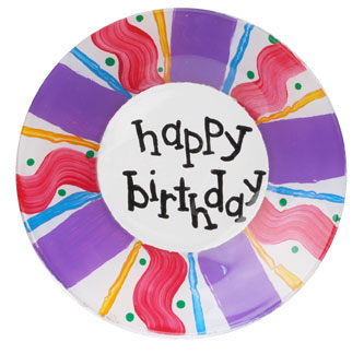 Happy Birthday Painted Plate