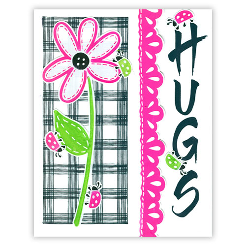 Retro Hugs Stamp Card