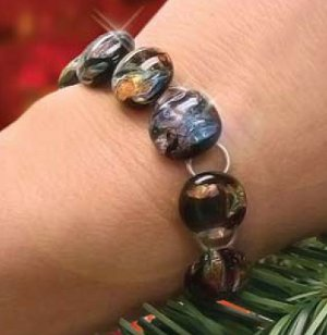 Fused Glass Holiday Bracelet
