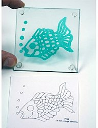 Painted Fish Coaster