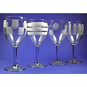 materials - Etched Wine Glasses