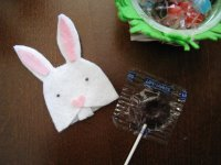 Easter Bunny Lollipop Cozy
