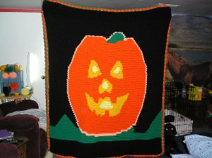 Cozy Halloween Blanket