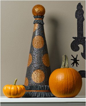 Sparkling Polka Dot Halloween Topiary