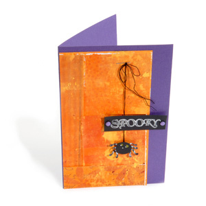 Hanging Spider Card