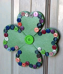 Welcome Button Shamrock