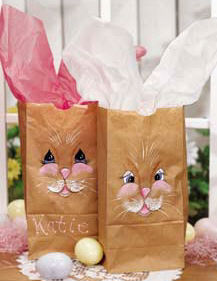 Easter Bunny Painted Sacks