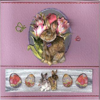 3-D Easter Bunny Card