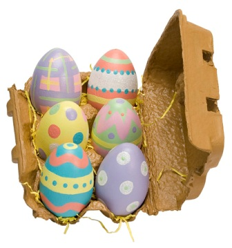 6 Wooden Easter Eggs